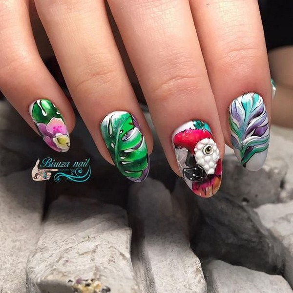 Beautiful Floral Nail Art Design: Cool Ideas for the Season 2020