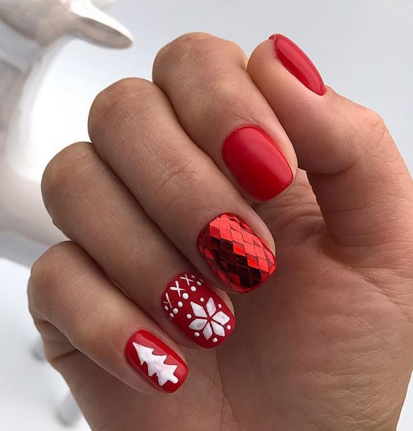 Winter Manicure 2019 2020 Trendy Winter Nail Art Design Trends Amp Photo Ideas Of Winter Nail